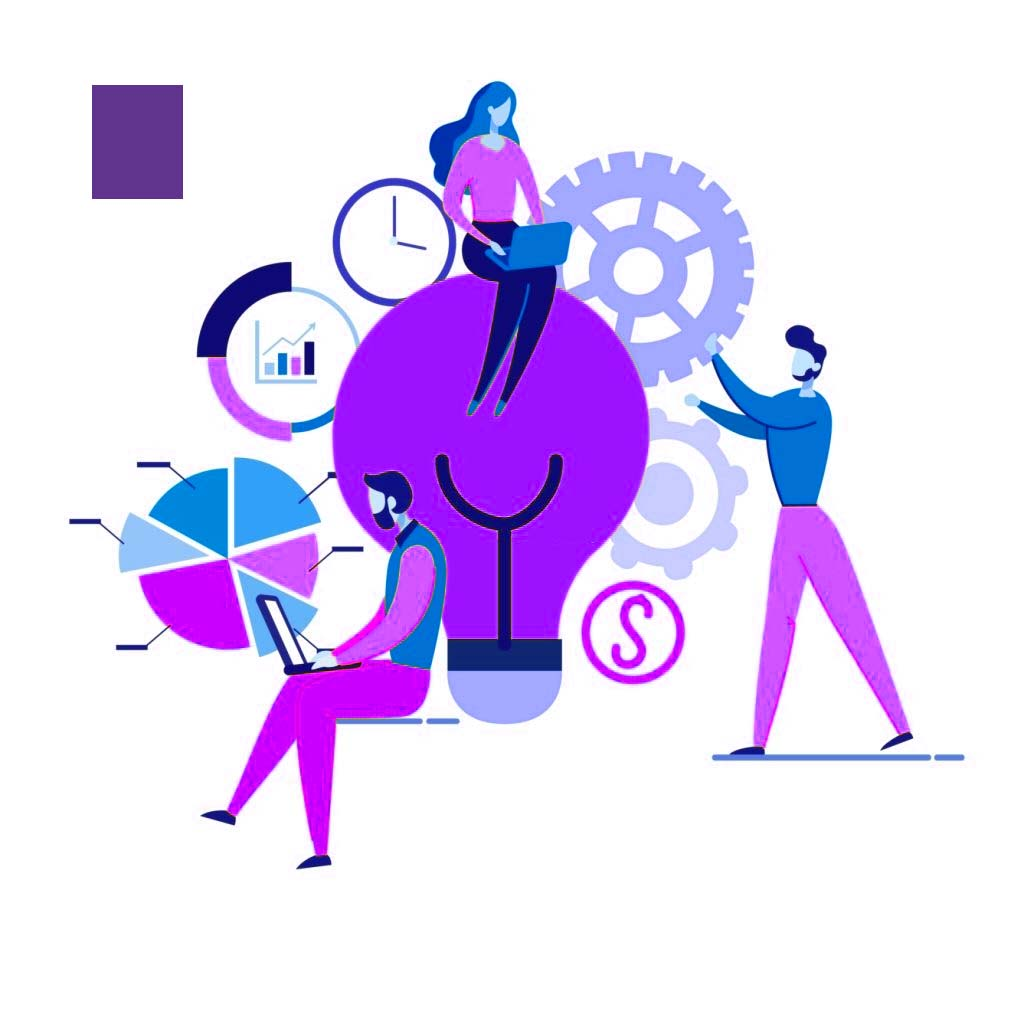 Informative Flyer Service Promotion Cartoon Flat. Social and Management Process Aimed at Meeting Needs and Requirements Client. Girl with Laptop Sits on Big Light Bulb from above. Vector Illustration.